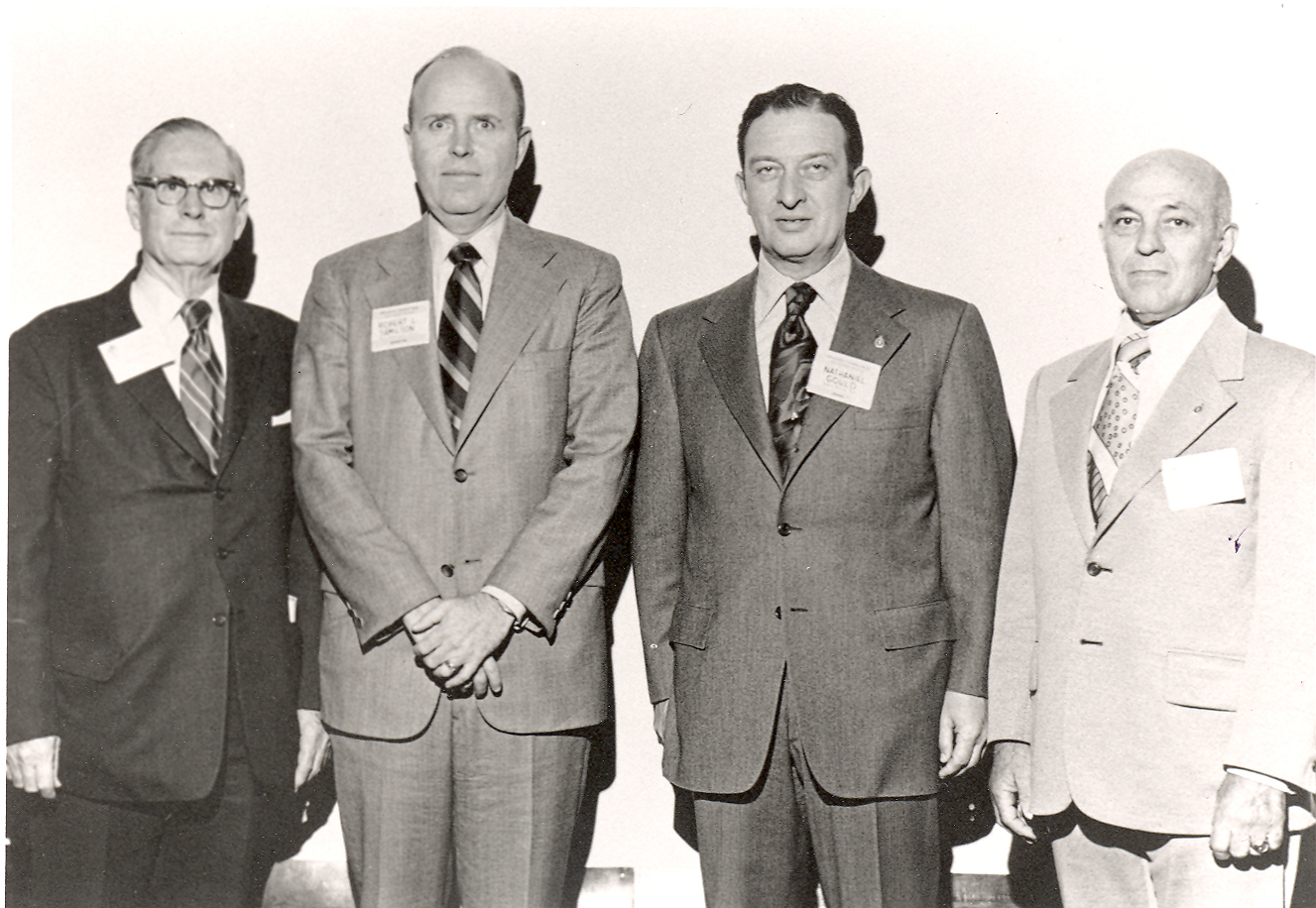 First four AOFAS presidents - Drs. Robert Joplin, Robert Samilson, Nathaniel Gould, and Nicholas Giannestras
