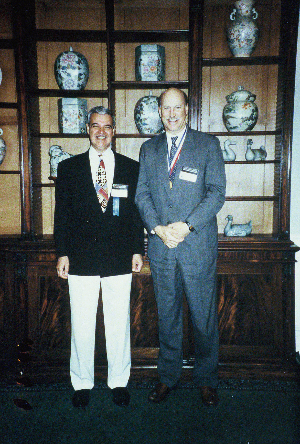 AOFAS Past Presidents G. James Sammarco, MD, and Donald Baxter, MD - Summer 1996