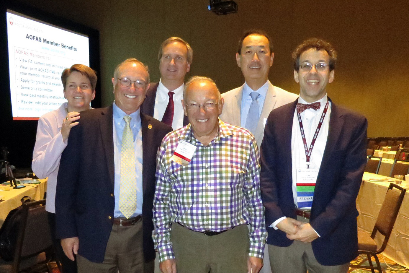 Drs. Judith Baumhauer,  John Gould, Mark Easley, Roger Mann, Thomas Lee, Lew Schon, MD