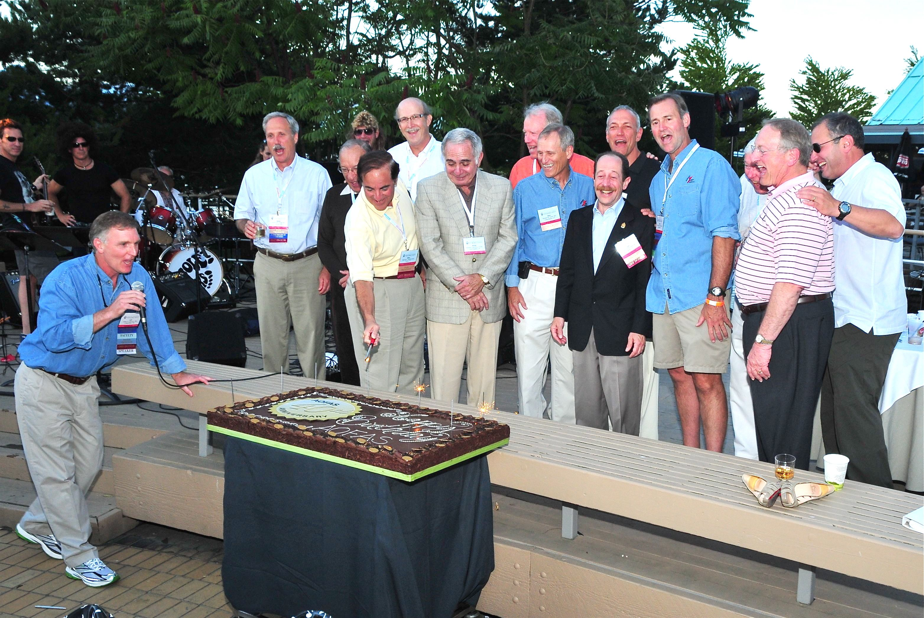 AOFAS Past Presidents at the Society's 40th Anniversary Celebration