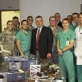 Bruce Cohen, MD, visited with residents at San Antonio Military Medical Center.